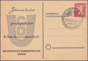 Parteitag der Christlich Demokratischen Union (CDU) SSt BERLIN 15.-17.6.1946