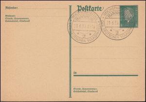 Postkarte P 181I SSt MANNHEIM Reichsparteitag der Deutschen Volkspartei 21.6.30