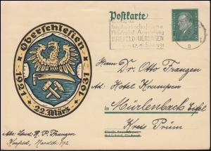 P 190 Volksabstimmung in Oberschlesien KREFELD 2 - 5.9..1931 nach Mürlenbach