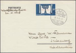 499 Unabhängigkeit der Schweiz auf PK SSt BASEL Westfälischer Frieden 24.10.1948