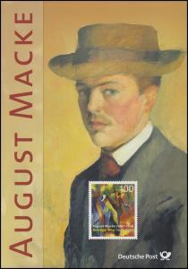 3103 Maler August Macke: Gemälde Sonniger Weg - EB 6/2014