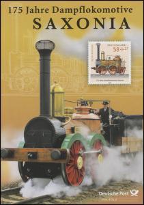 3027 Tag der Briefmarke: 175 Jahre Dampflokomotive SAXONIA - EB 5/2013
