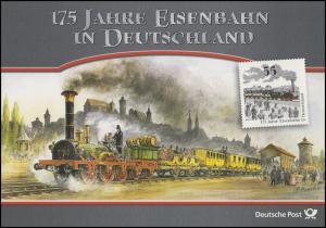 2833 Eisenbahn in Deutschland Dampflok ADLER von Nürnberg nach Fürth - EB 6/2010