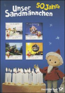 2748-2751 Unser Sandmännchen - EB 4/2009 - Gedenkblatt mit Original-Marken