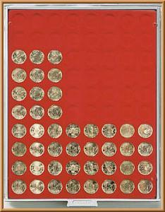 LINDNER Münzenbox Rauchglas leer für 20 EURO-Cent