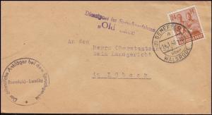 Dienstpost Spruchverfahren Old Lace vom Ankläger Brief BENEFELD-WALSRODE 14.1.48