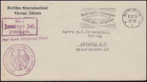 Frei durch Ablösung Generalkonsulat in Chicago Bf.Auswärtiges Amt BERLIN 8.12.32