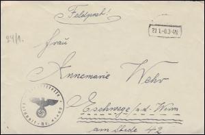 Feldpost Dienststelle 41462 Tarnstempel 21.1.41 Brief mit Inhalt nach Eschwege