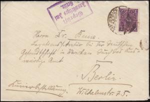 Kurierzustellung 191 auf Brief REICHENBACH 22.4.22 Auswärtiges Amt nach Warschau