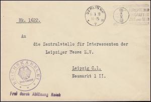 Frei laut Ablösung Reichskanzlei Brief BERLIN NW 7 - 14.3.1930 nach Leipzig