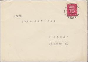 414 Hindenburg EF auf Brief BERLIN-REICHSTAG 15.10.1930 nach Weimar