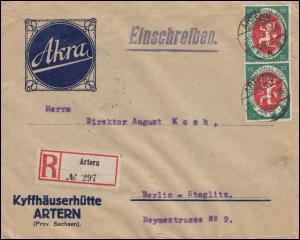 109 Nationalversammlung MeF R-Brief Kyffhäuserhütte ARTERN 21.11.19 nach Berlin