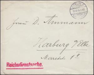 Reichsdienstsache Siegel AUSWÄRTIGES AMT Brief BERLIN Kabinettspostamt 16.10.14