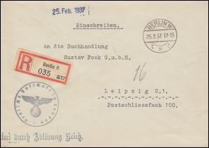 Frei durch Ablösung Reich Botschaft London Auswärtiges Amt R-Bf. BERLIN 25.2.37