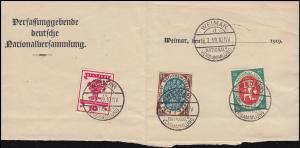 107+108+109 Nationalversammlung auf Briefkopf WEIMAR-NATIONALVERSAMMUNG 16.7.19