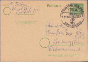 SSt BERUFSPHILATELISTEN TAGEN IN BERLIN-CHARLOTTENBURG 7.9.1955 auf P 13I