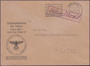 Frei durch Ablösung Reichsministerium des Innern Schnellbrief BERLIN 6.2.1945