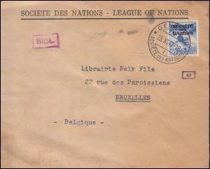 Deutsche Zensur Schweiz Völkerbund (SDN) 53 auf Auslandsbrief GENF 23.12.1942
