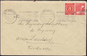 Werbestempel Deutsches Rotes Kreuz Spende auch Du, Brief DÜSSELDORF 21.6.1948