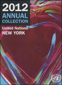 UNO New York Jahressammelmappe Souvenir Folder 2012, gestempelt