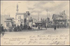 AK Industrie- & Gewerbeausstellung DÜSSELDORF Kairo, SSt AUSSTELLUNG 18.8.1902