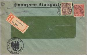 30+33 Dienst Finanzamt Abt. Reichsumsatzsteuer R-Brief STUTTGART 11.11.1922