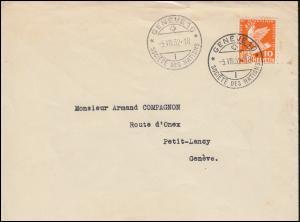 Schweiz 251 Abrüstungskonferenz EF auf Orts-Brief SSt GENF Völkerbund 5.8.1932
