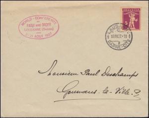 Schweiz 200x Tellknabe auf Drucksache Glaube und Ordnung LAUSANNE 18.8.1927