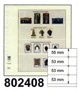 LINDNER-T-Blanko-Blätter 802 408 - 10er-Packung