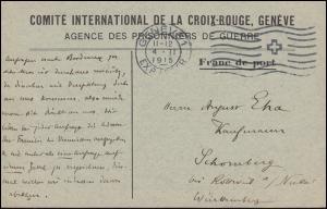 Kriegsgefangenpost Internationales Rotes Kreuz GENF 4.2.15 nach Deutschland
