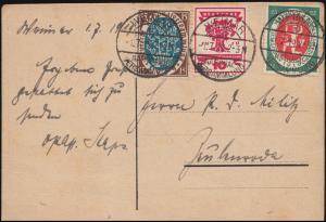 Ansichtskarte S.Kötscher Nationalversammlung, PK 107+108+109 FDC WEIMAR 1.7.1919