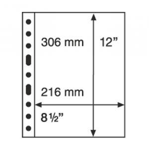 5 Kunststoffhüllen GRANDE 1C, eine Tasche für Bögen etc., glasklar
