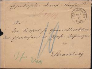 Dienstsache Kaiserliches Appellationsgericht zu COLMAR 20.6.1877 nach Strassburg