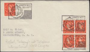 Sonderstempel PTTI World Congress 20.9.1963 / Weltpostkongress auf Brief 1963