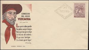 Argentinien 479 Weltspartag Sparkasse auf FDC Vizcacha Buenos Aires 25.10.1943