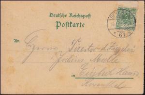 46 ZS oben Ziffer mit Steg OBEN auf AK Gruss aus Berlin, 10.1.1899