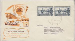 293 Postschiff EXPERIMENT und sein Postmeister Nichols auf Schmuck-FDC 22.4.59