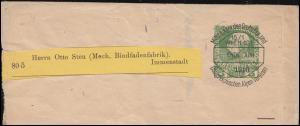 Österreich Streifband Privat Voraussentwertung D.Ö.A.V. WIEN ENDE JUNI 1910