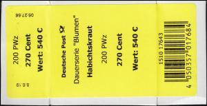 3475 Habichtskraut 270 Cent + CF Banderole / Aufkleber