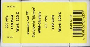 3471 Wild-Gladiole 110 Cent + CF Banderole / Aufkleber