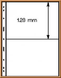 Lindner UNIPLATE 072, schwarz, 2 Streifen (Höhe je 128 mm), 5 Blätter