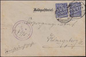 26 Dienstmarke MeF Versorgungsamt BERLIN-KURIERSTELLE 29.10.1920, INFLA-geprüft
