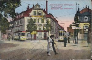 Ansichtskarte Kaiserslautern Fackelrondell / Rondpoint des Flambeaux, 3.5.1926