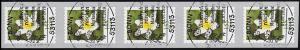 3484 Buschwindröschen 155 Cent sk aus 100er 5er-Streifen mit GERADER Nr., EV-O