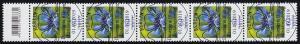 3468 Kornblume 60 Cent aus 500er, 5er-Streifen mit Codierfeld ESSt Berlin 1.7.19