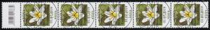 3472 Buschwindröschen 155 Cent aus 200er-Rolle, 5er-Streifen mit CF, ESSt Bonn