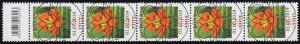 3469 Kapuzinerkresse 80 Cent aus 500er-Rolle, 5er-Streifen mit CF, ESSt Bonn