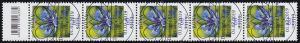 3468 Kornblume 60 Cent aus 500er, 5er-Streifen mit Codierfeld ESSt Bonn 1.7.19