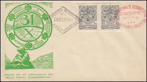 Argentinien 496 Weltspartag Nationale Sparkasse Blanko-FDC Buenos Aires 24.10.44