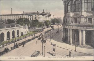 AK Berlin Abgeordnetenhaus und Prinz Albrechtstraße, FRIEDRICHSFELDE 7.1.1907